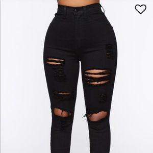 Fashion Nova Blanched Jeans
